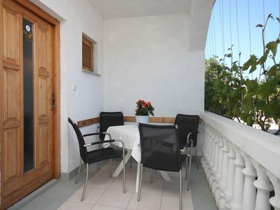 Photo for Two bedroom apartment with terrace Biograd na Moru, Biograd (A-6227-a)