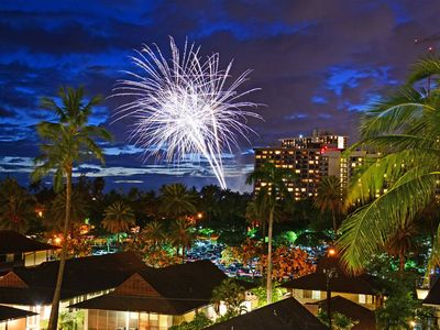 Photo for Heart of Waikiki With Partial Ocean View! Friday Night Fireworks! Washlet!