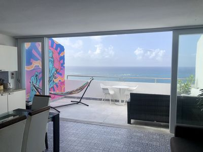 Condado Penthouse with 2-Bedrooms, Ocean View and Open Terrace