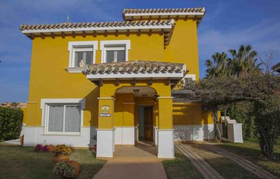 Photo for Detached villa with heated pool golf view