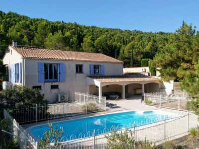 Photo for Beautiful villa with heated and fenced private pool, and stunning views