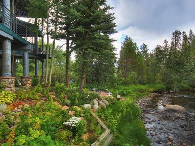 Photo for Peaceful River Front Retreat Walk to Dining and Nightlife Central to 4 Ski Areas