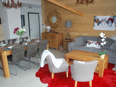 Photo for 90 sqm penthouse in VAUJANY / Direct connection Alpe d Huez