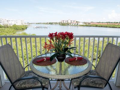 Balcony View of Intercoastal - watch the birds and dolphins playing