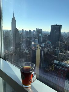Morning coffee with the best view in NYC
