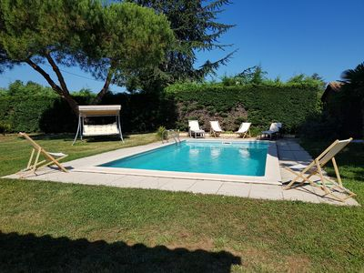 Photo for Nice holiday house 130 m² with swimming pool at the gate of the city of Bergerac