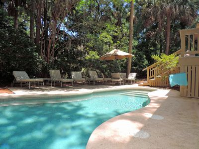 Photo for Screened in porch with a hot tub, private pool, gas grill, short walk to the beach