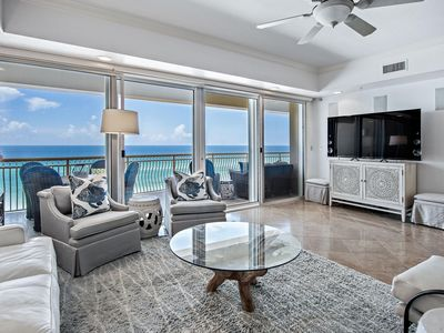 Photo for Dunes of Crystal Beach 404, New Beachfront listing, 4bd condo, sleeps 10, pool, fitness, hot tub!