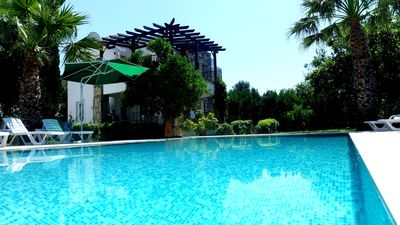 Photo for Luxury 2 bedroom holiday apartment with communal swimming pool in Yalikavak