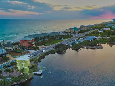 Photo for Incredible Lakefront Vacation Home w/ Dazzling Gulf Views!
