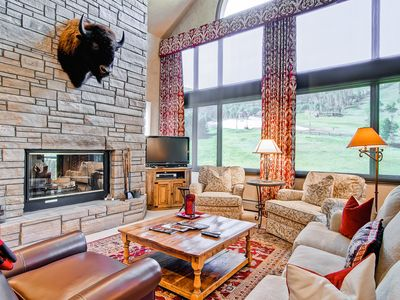 Photo for Sophisticated ski-in ski-out mountain home