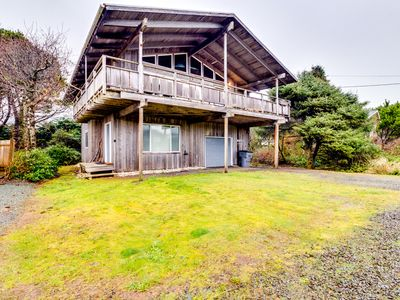 Photo for Dog-friendly home w/ two kitchens, fireplace, & foosball - nearby beach access