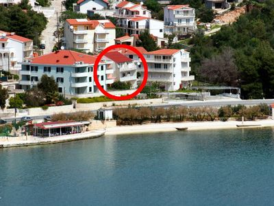 Photo for Two bedroom apartment with balcony and sea view Marina (Trogir)