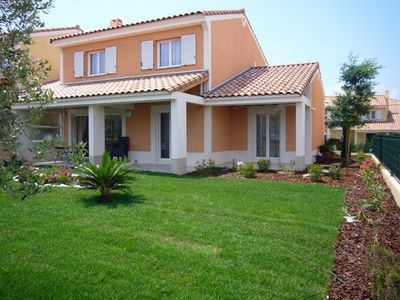 Photo for Cannes luxury villa 4 BR 4 bath WiFi AC Close to sea & centre Pool calm & secu