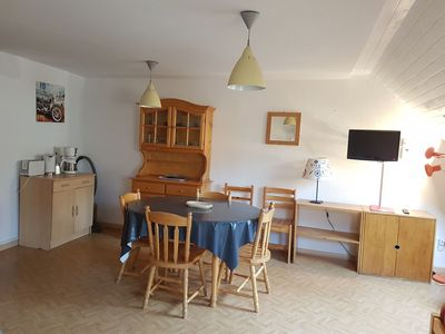 Photo for flat duplex for 5 persons,(50 m2), view on the mountain and direct access on the slopes