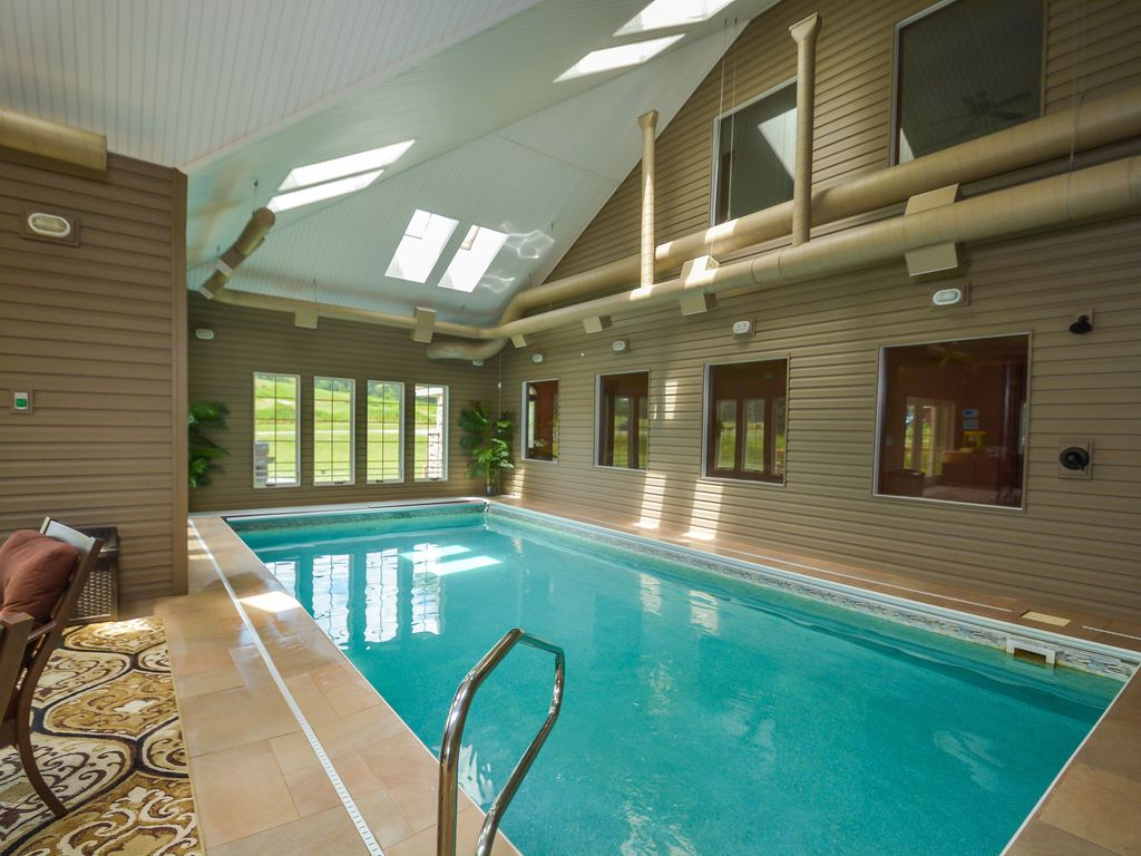 Private Indoor Swimming Pools exquisite 5 bedroom luxury log home with private indoor swimming