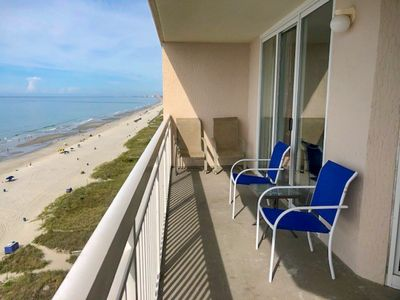 Photo for JULY DEALS! 2 Bedroom 2 Bath Oceanfront condo. Outdoor pool, indoor pool, lazy river, Jacuzzi, grilling area.