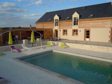 Spacious villas Region castles of the Loire for 15 persons.