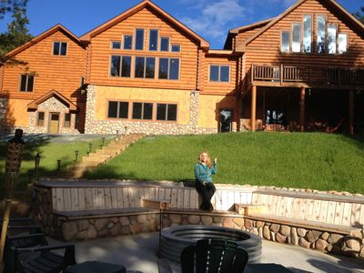 Log Cabin All Season Getaway with Acreage inside Huron National Forest