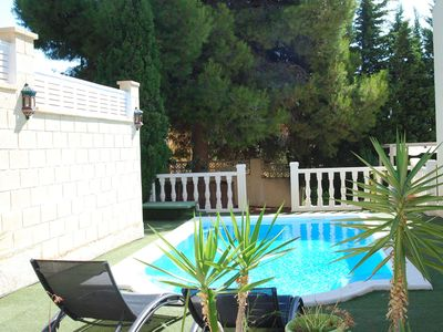 Photo for This 3-bedroom villa for up to 6 guests is located in La Nucia and has a private swimming pool, air-