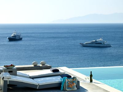 Photo for Large Luxury Villa Luxfinity Mykonos Superbly Located in the most Vivid Area of the Island 8 BR 8 BATHR, with Private Pool, Up to 20 Guests !