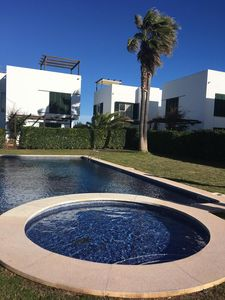 Photo for Villa next to golf, sea and countryside in northern Menorca