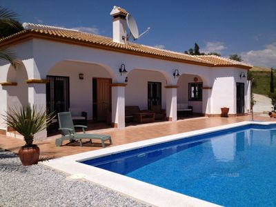 Photo for Luxury Villa with large pool and panoramic views of lake Vinuela