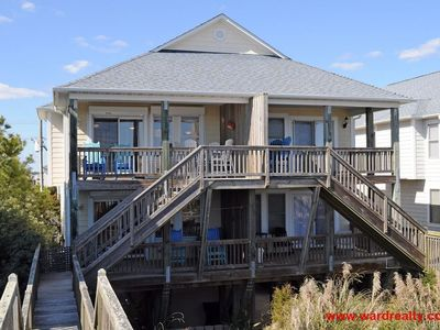 Photo for Large 3 BR Oceanfront Duplex with Great Views from Covered Porches
