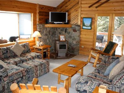 Photo for Rocky Ridge Chalet - Rustic Home with Large Outdoor Hot Tub - Minutes from Town