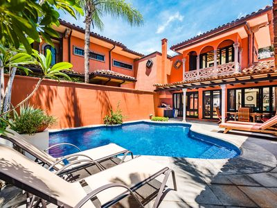Photo for Luxury villa- across from beach, private pool, gas grill, cable, a/c