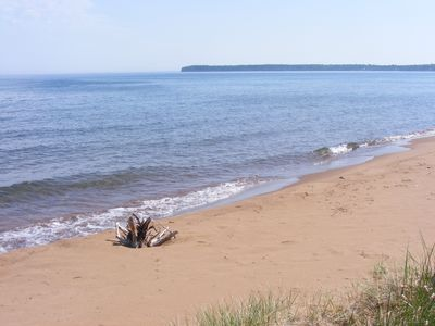 Photo for Lake Superior Log Cabin on  Sandy Beach --reservations open in Spring  2019
