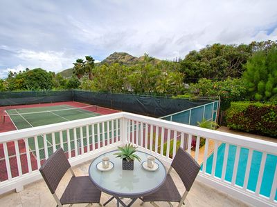 Photo for Mini-Resort with Tennis Court, Pool & Pool Table, Steps from Lanikai Beach