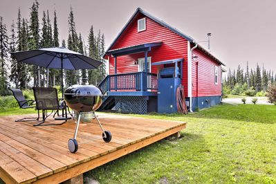 Enjoy clear Alaskan evenings grilling on the patio.