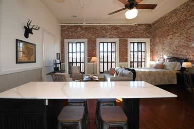 Beautiful exposed brick walls and updated details
