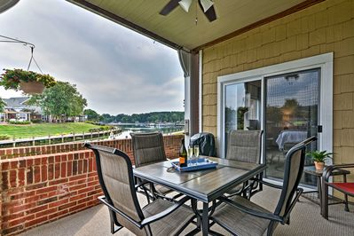Admire the waterfront views of Lake Norman from the balcony.