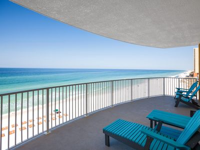 Photo for BEAUTIFUL GULF FRONT CONDO END UNIT!! 2bdrm/2bth Beach Service INCLUDED!!