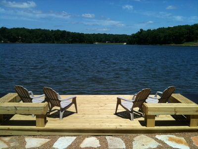 View of Beautiful Lake Aspen from our new Dock
