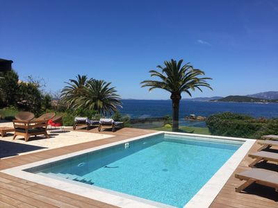 Photo for POMOTION JULY - Beachfront villa with pool - Corse-du-Sud