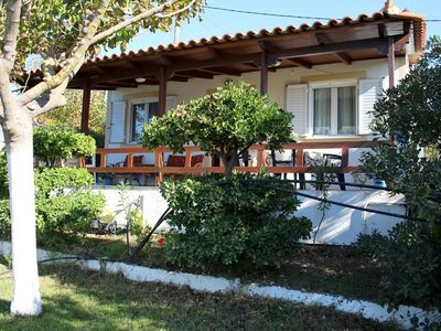 Photo for Rustic holiday house directly at the beach, garden, terrace  | Ilia, Peloponnese