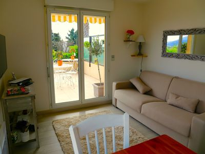 Photo for sea view apartment with swimming pool at only 2 km from the sea