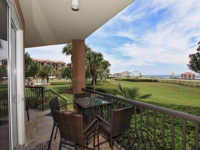 Incredible Views from the Patio of this Mediterranea Resort condo in Destin, FL