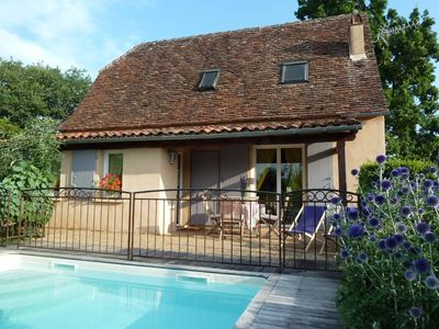 Photo for House 4/5 character with private pool in Loubressac, medieval village