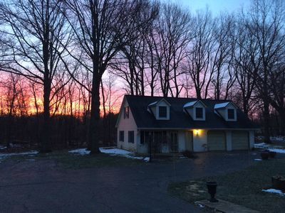 Sunrise on your City House in the Country