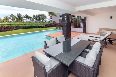 Your private ocean view terrace with private plunge pool
