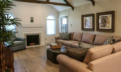 Family Room with Sectional w/Queen Sleeper Sofa