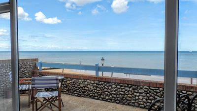 Photo for 3 The Promenade -  a stunning sea view, just for two! Ground floor apartment that sleeps 2 guests