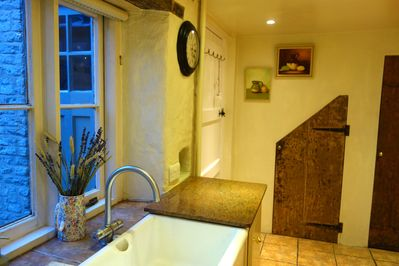 Kitchen with butlers sink