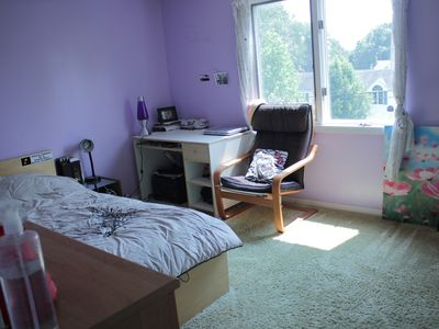 Photo for Cozy 4BD in green NJ suburbs, clean & furnished house, safe neighborhood