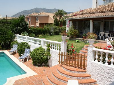 Photo for BEAUTIFUL VILLA PRIVATE POOL & GARDEN FUENGIROLA FREE WIFI 4 min to the beach
