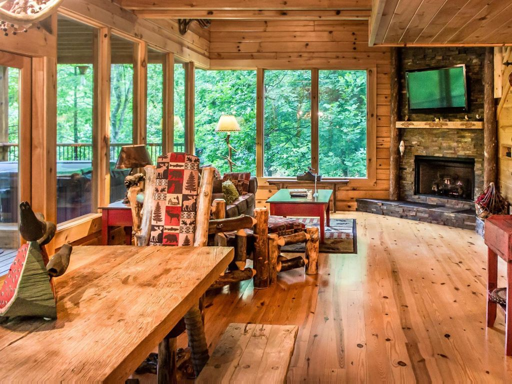 Cabin With Wrap Around Porch Nestled Away In Brother S